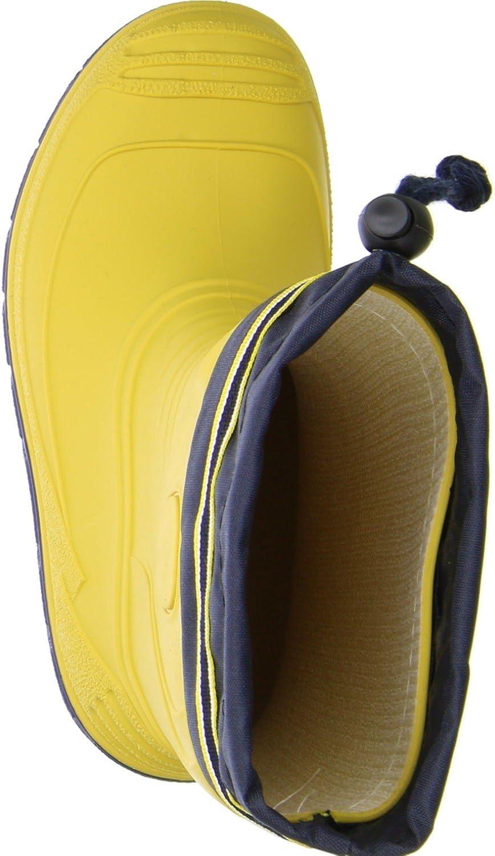 G/&G Kinder M/ädchen Jungen wasserdichte Gummistiefel Regenschuhe Nitrilgummi gelb