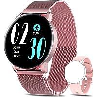 AIMIUVEI Smartwatch Mujer, Reloj Inteligente IP67 con Pulsómetro Presión Arterial 8 Modos de Deportes Monitor de Sueño…