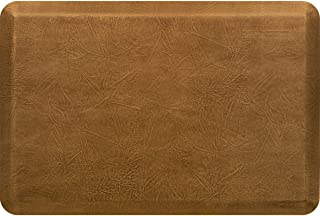 """product image for WellnessMats Leather 3/4"""" Anti-Fatigue Mat - Comfort & Support - Non-Slip, Non-Toxic (Copper Leaf, 3'x2')"""