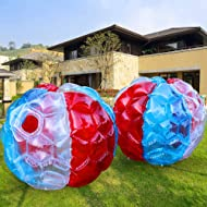 PETUOL Bumper Balls 2 Packs, 36in Inflatable Buddy Sumo Bumper Ball Toysfor Adults & Kids Christmas Games Gifts – Heavy Duty Durable PVC Vinyl Suits for Grassplot or Other Outdoors Play