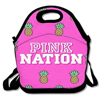 60c07d20c1ca Amazon.com - NEST-HOMER Lunch Box PINK Nation Pineapple Lunch Bag ...