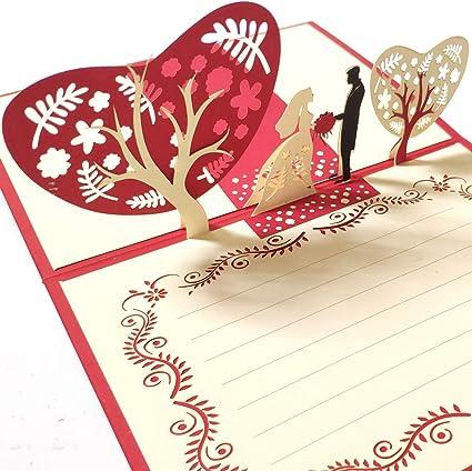 Anniversario Di Matrimonio Romantico.Hotupark Biglietto Tridimensionale Di Auguri Per Anniversario Di