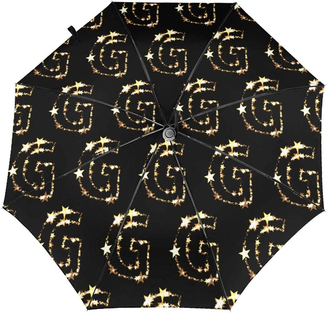 Letter A Star Decoration Christmas Automatic Tri-fold Umbrella Folding Rain Umbrell Sunshade