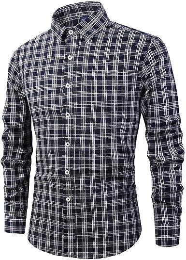 JYKING - Camisa de algodón para hombre, manga larga, diseño ...