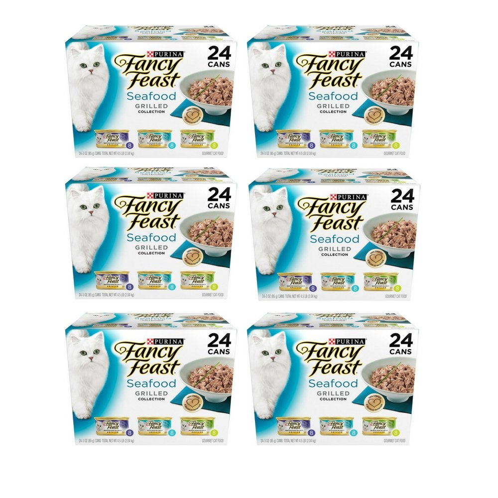 Purina Fancy Feast Grilled Seafood Collection Wet Cat Food Variety Pack (6 Pack)