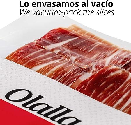 Estuche Jamon Iberico de Bellota 100% Iberico Reserva Pata Negra - 20 Sobres Loncheados de 100 gr de Jamon Iberico Cortado a mano y Envasados al Vacio - Embutidos y Regalos Ibericos Gourmet - 2 kg