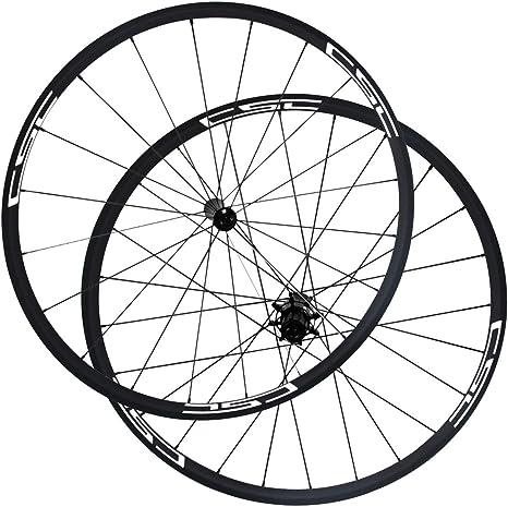 LOLTRA Juego de Ruedas para Bicicleta de Carretera, sin Tubo, Ruedas de Carbono Tubular con radios RL12 Hub Pilar 1423: Amazon.es: Deportes y aire libre