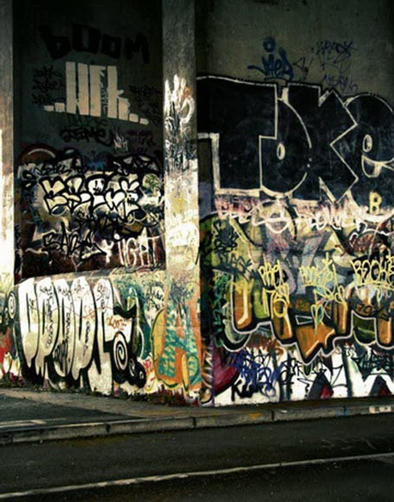 Graffiti Vintage Wall Photography Backdrops Photo Props Studio Background 5x7ft