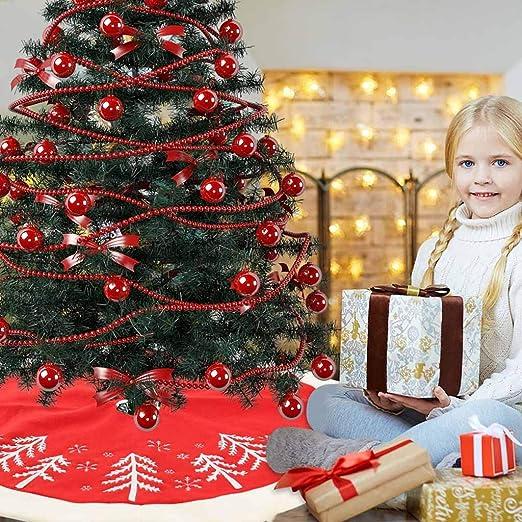 Sansee - Falda de árbol de Navidad de 48 Pulgadas de diámetro con ...