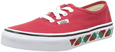 eb69bf3f25 Amazon.com | Vans Authentic (Strawberry Tape) RED/Black RED 10.5-7 4 ...