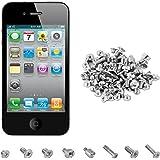 kwmobile Kit de vis complet pour le Apple iPhone 4 / 4S - kit complet pour remplacement et réparations