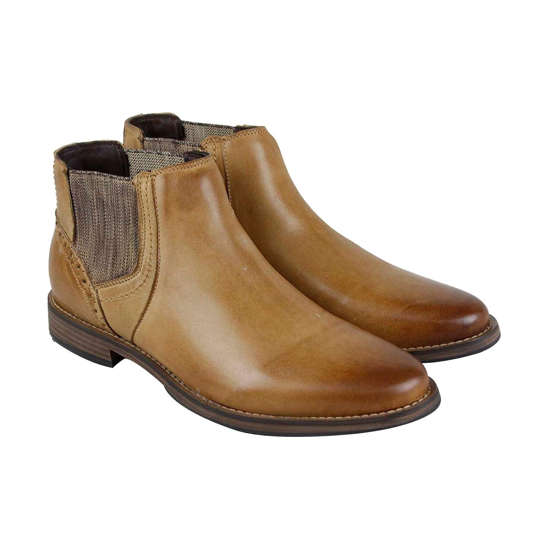 ade713e1de8 Amazon.com | Steve Madden P-Quahog Mens Tan Leather Casual Dress ...