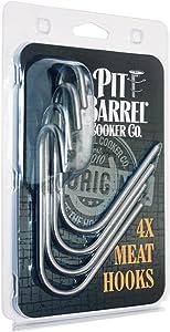 Pit Barrrel Cooker Stainless Steel Meat Hooks (set of 4)