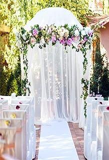 Amazon balsacircle white decorative metal wedding arch for aofoto 6x8ft arch wedding ceremony backdrop romantic flower voile curtain pavilion photography background bride lovers couple junglespirit Images