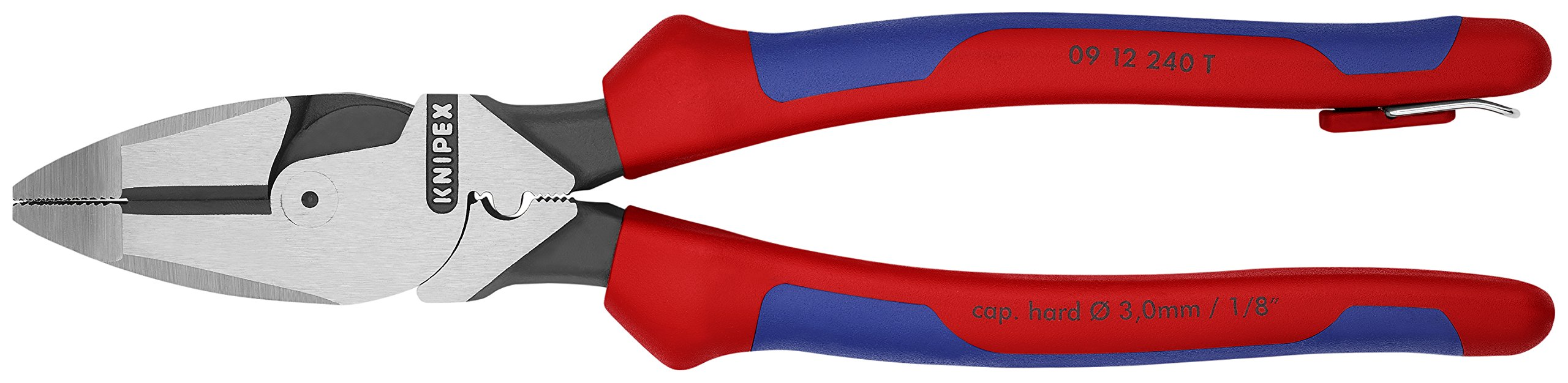 Knipex Tools 09 12 240 T BKA 9 1/4'' Ultra-High Leverage Lineman's Pliers with Fish Tape Puller, Crimper, Tether Attachment by KNIPEX Tools (Image #3)