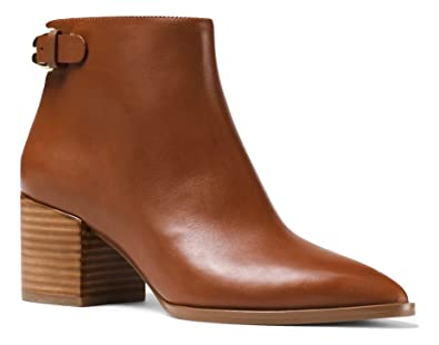 4470e7caee4 Amazon.com | Michael Michael Kors Saylor Leather Ankle Boot Luggage ...