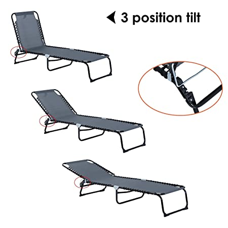 Amazon.com: festnight – Portátil Chaise Lounge Silla ...