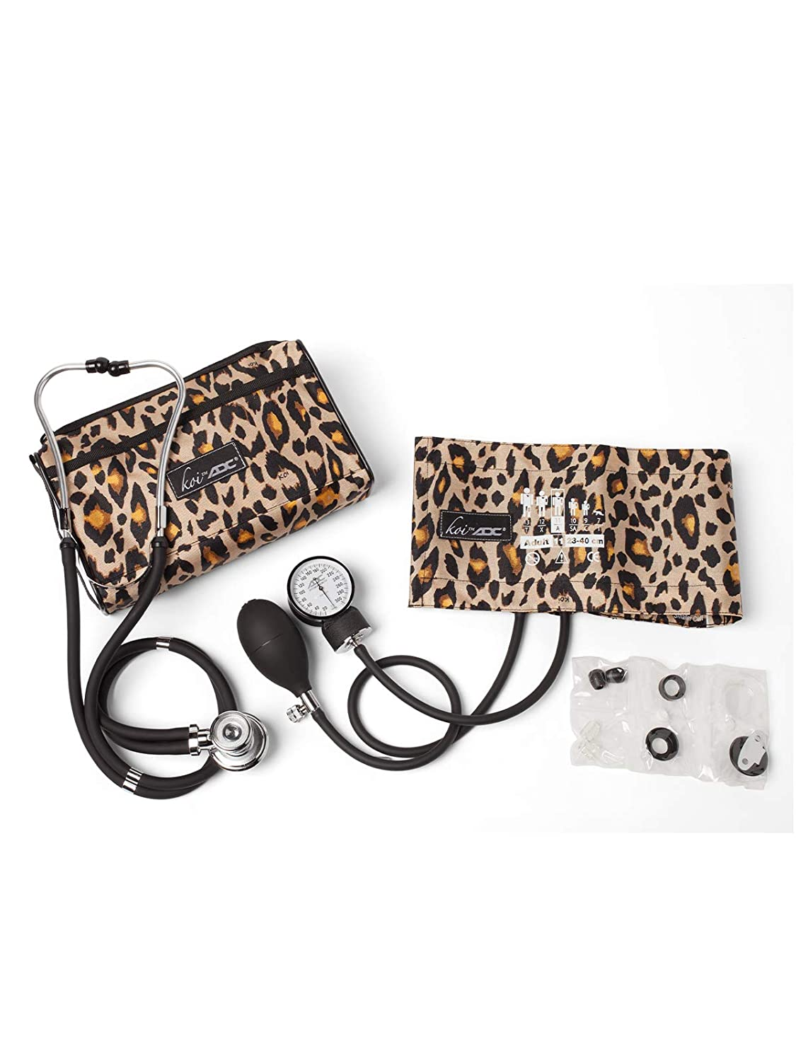 Koi by ADC Blood Pressure and Sprague Stethoscope Combo Kit New Leopard Print