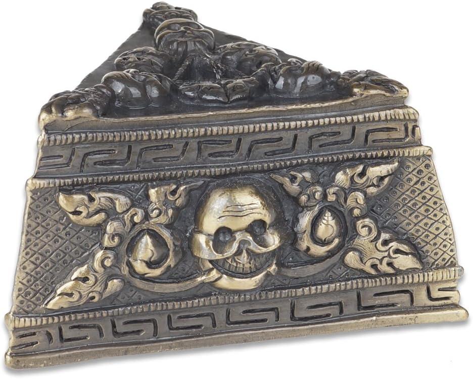 "1.7/"" Curio Nepal Tibetan Buddhism Bronze Phurba Dagger Holder Small Bell Pendant"