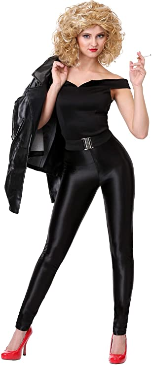 1950s Costumes- Poodle Skirts, Grease, Monroe, Pin Up, I Love Lucy Grease Deluxe Bad Sandy Costume Grease Costume for Women $49.99 AT vintagedancer.com