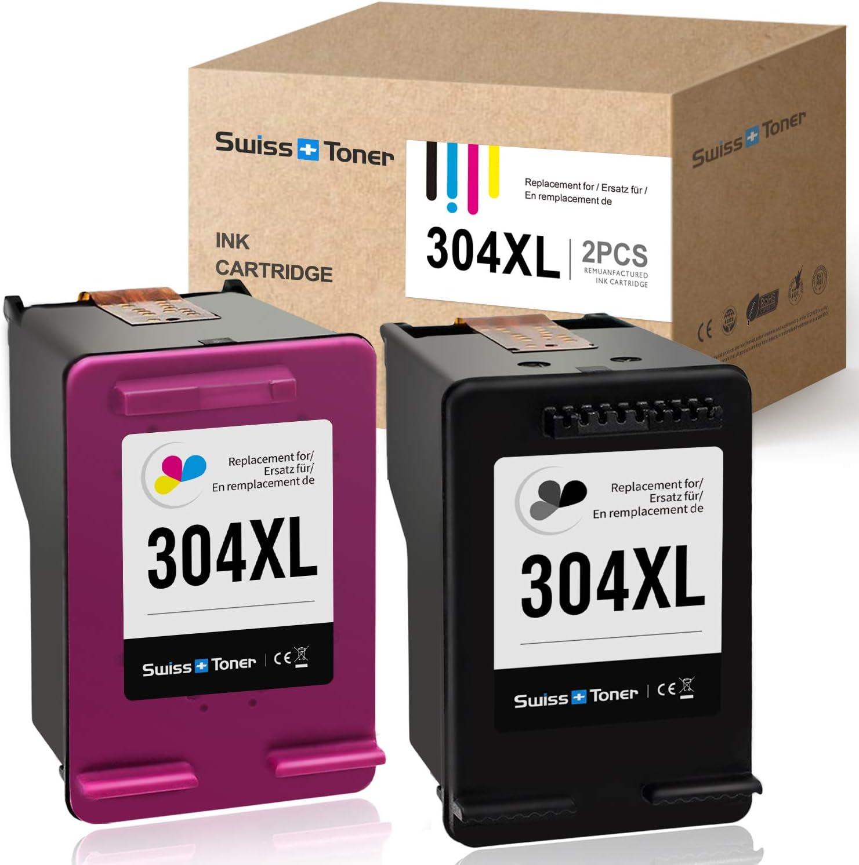 SWISS TONER Rigenerate 304XL 304 XL Compatible con HP 304XL ...