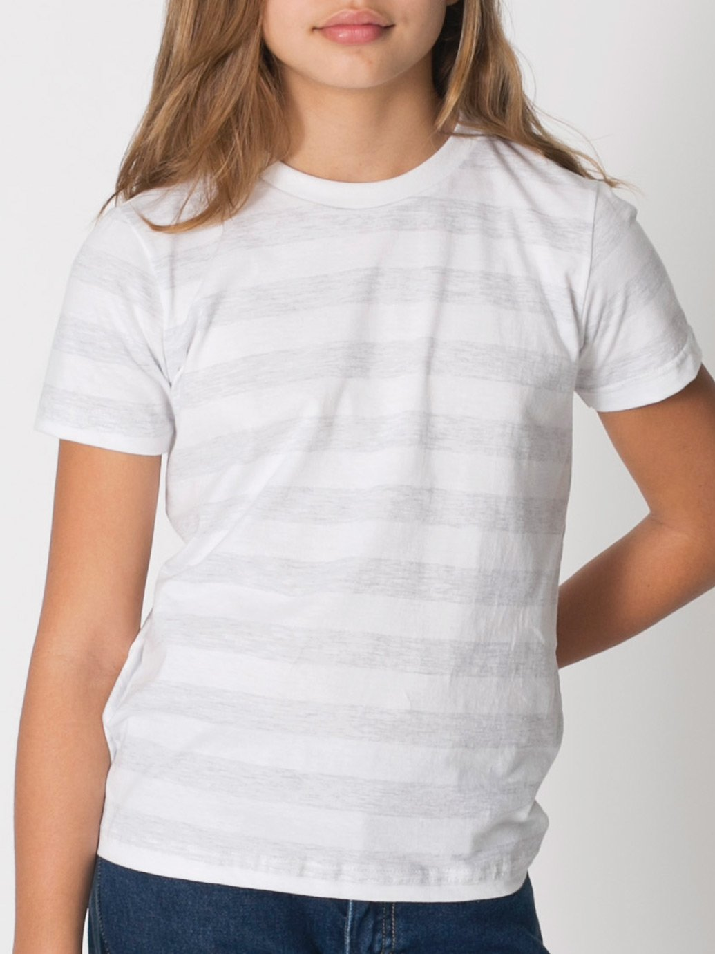 American Apparel Boys Fine Jersey Short-Sleeve T-Shirt (2201) -BABY BLUE -10 by American Apparel (Image #3)