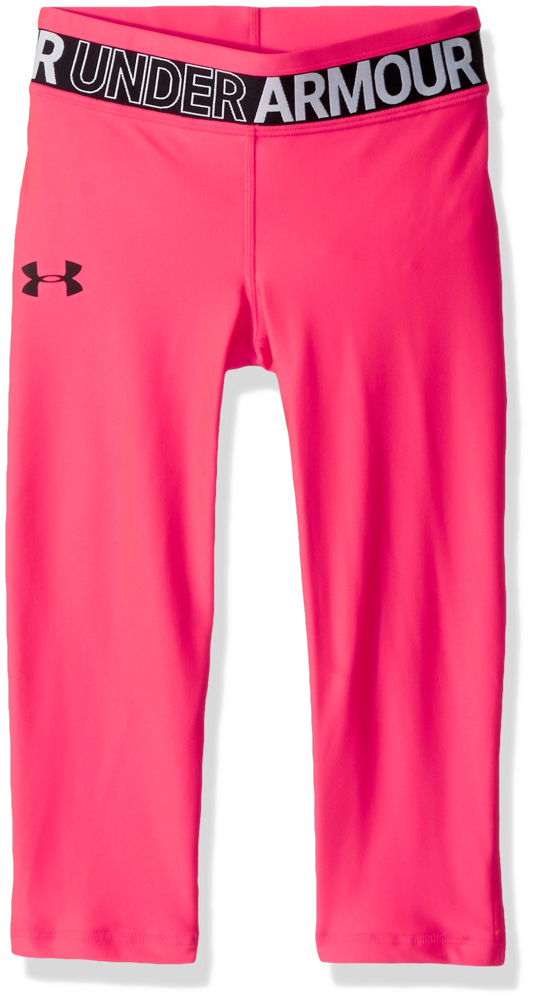 Under Armour Girls' HeatGear Armour Capris, Penta Pink /Black, Youth X-Large by Under Armour