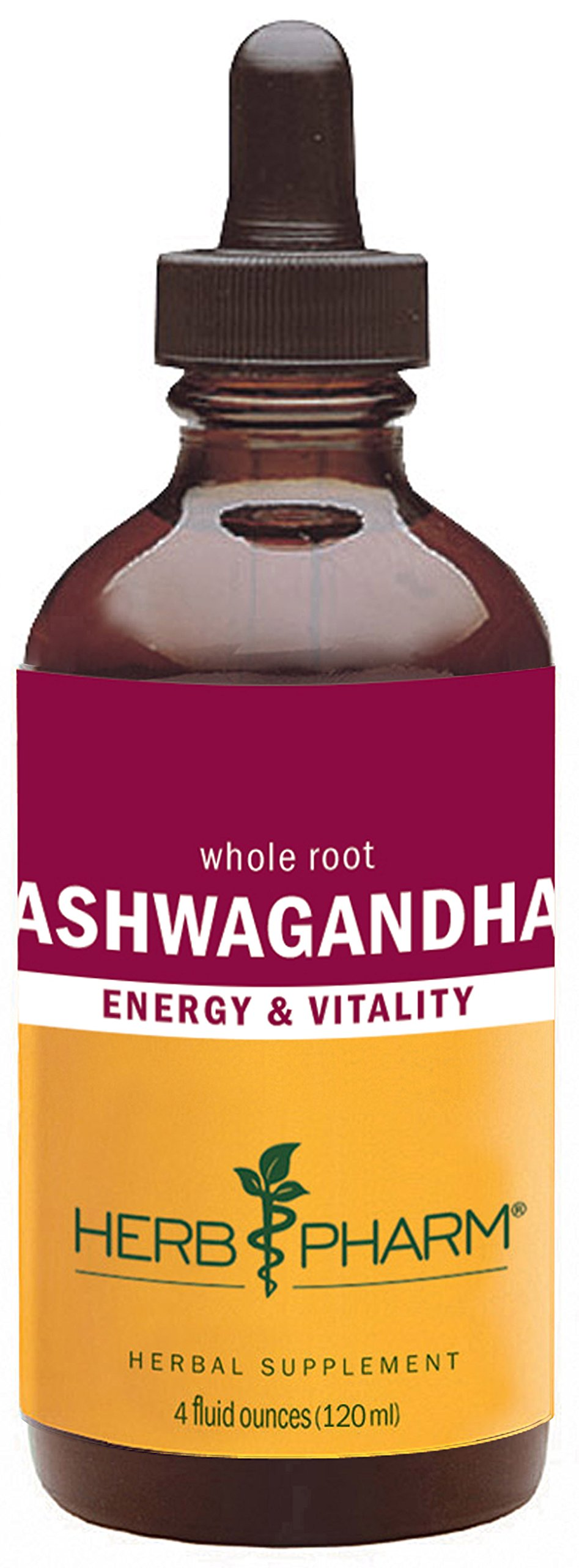 Herb Pharm Certified Organic Ashwagandha Extract for Energy and Vitality - 4 Ounce