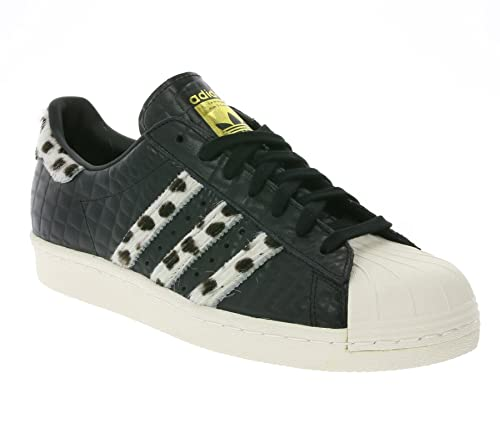 free shipping 746fe b8fb6 Adidas Superstar 80s Animal, core black chalk white gold metallic, 9