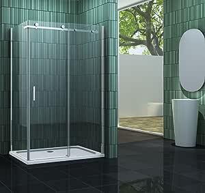 Mampara de 120 x 80 x 200 cm con ducha TECHNO: Amazon.es ...
