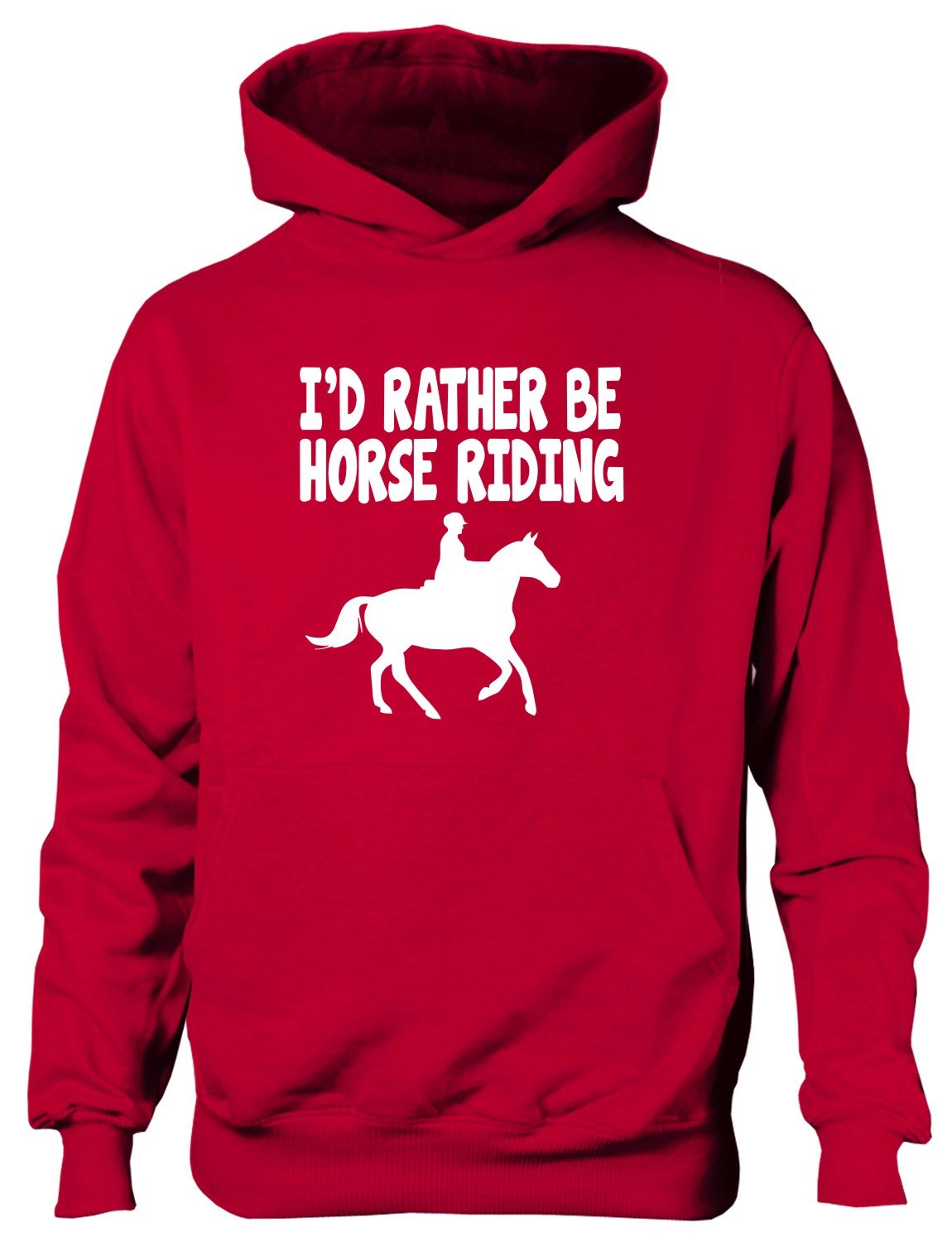 Print4U I'd Rather Be Horse Riding Boys Girls Hoodie Age 5-13