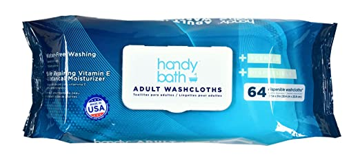 Amazon.com: Handybath Incontinence Flushable Adult Washcloths 100% Biodegradable with Fresh Scent- Extra Large 12 x 9