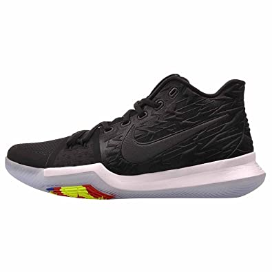 hot sale online 84ba5 c7e72 Image Unavailable. Image not available for. Color: Nike Mens Kyrie 3  Basketball Shoes, (Black/White ...