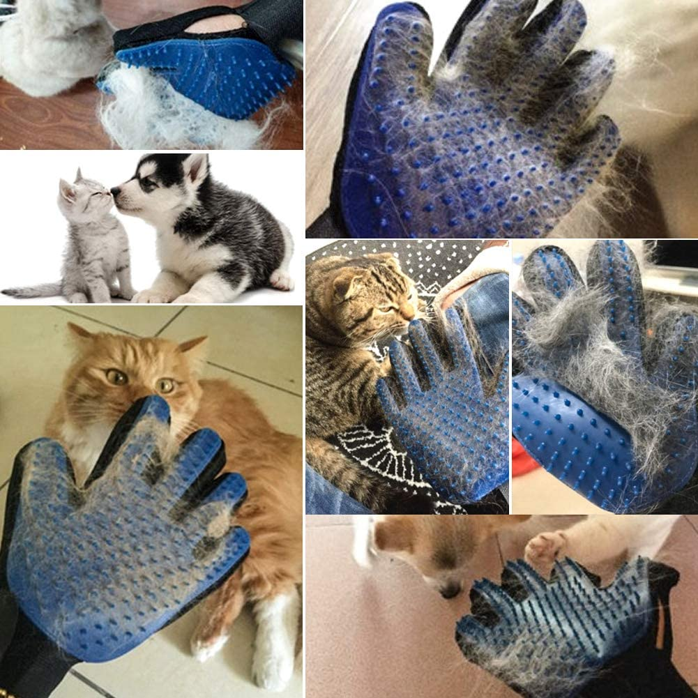 Dogs and Cats Bath Massage Brushes Fur Tool for Long and Short Fur CCWELL Pet Brush Glove Double Sided Hair Removal Glove for Pets