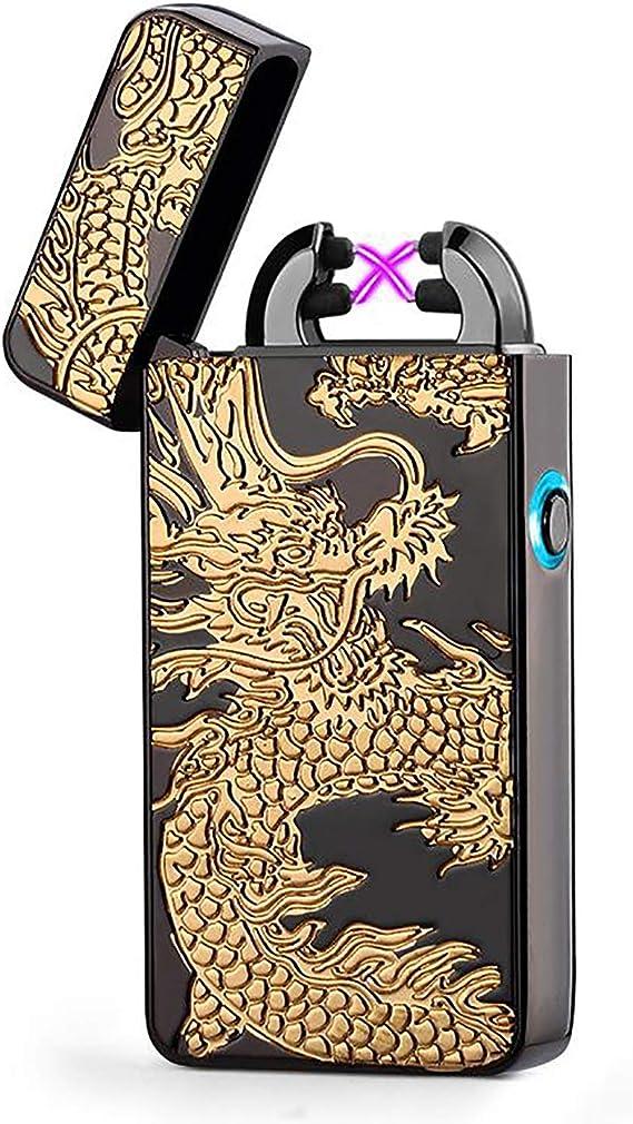 Double Arc Elektro-Feuerzeug Multicolor Zigarette Tolle Geschenke F/ÜR M/änner Wiederaufladbare USB Elektronische Feuerzeuge Winddicht Kein Gas Flammenloses Feuerzeug F/ÜR K/ÜChe