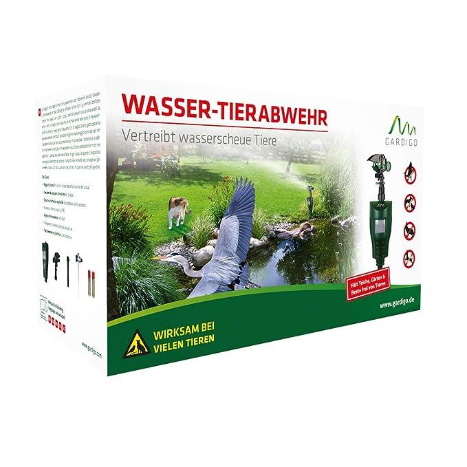Gardigo - Ahuyentador de Animales con Rociador; Anti-Gatos, Perros y Pájaros | Aspersor de Agua con Sensor Movimiento - 60 m²: Amazon.es: Jardín