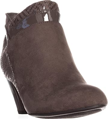 Karen Scott Womens Cahleb Faux Suede Heels Ankle Boots