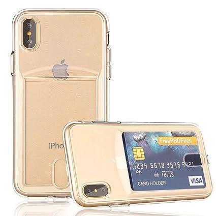 Amazon.com: obvis iPhone X Slim Fit 0,3 mm Transparente TPU ...