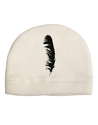 6ede04c10e333 Amazon.com  TooLoud Black Feather Child Fleece Beanie Cap Hat  Clothing