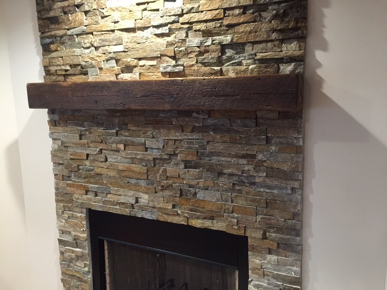 amazon com reclaimed barnwood beam fireplace mantel wood 4
