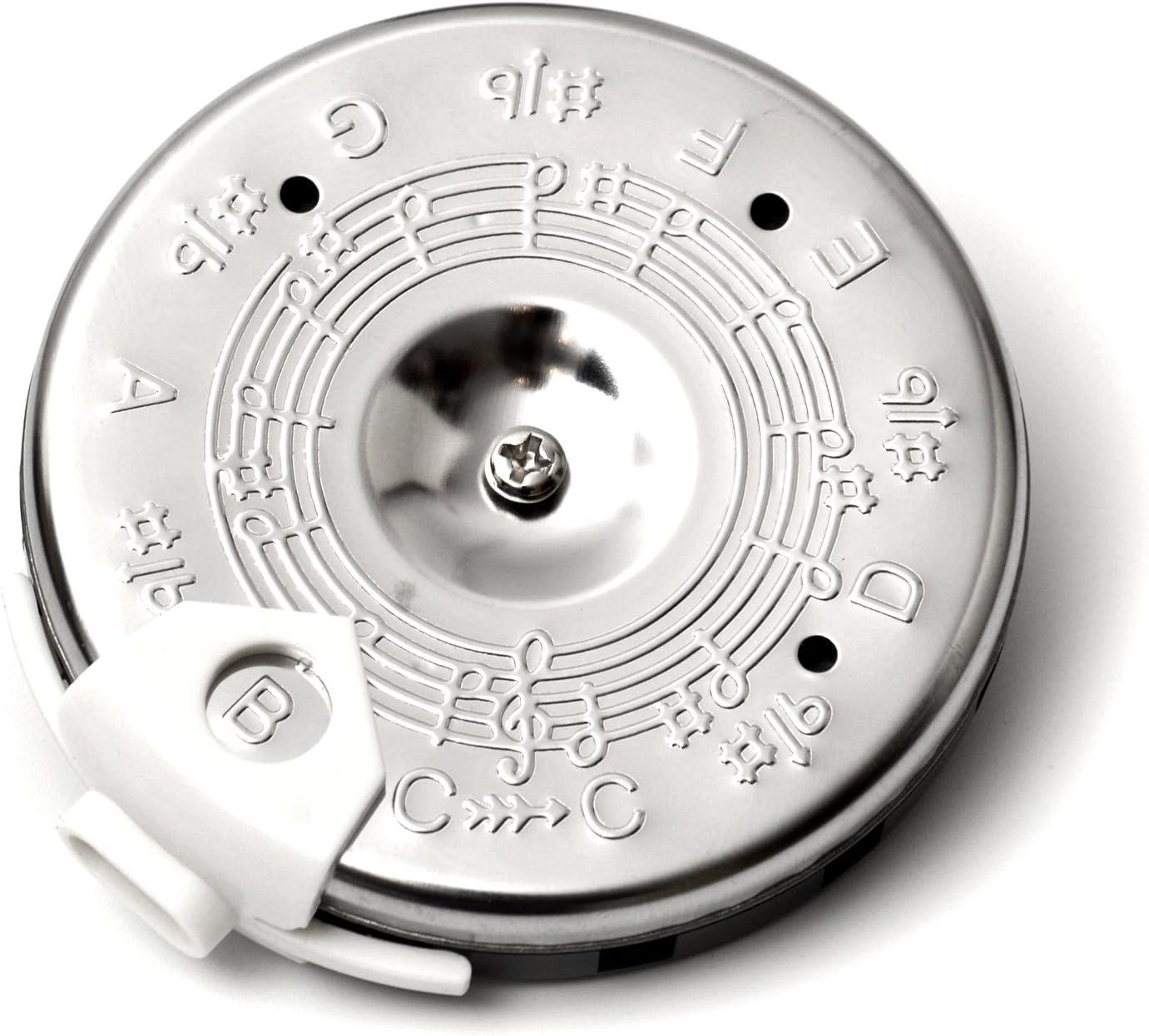 Elagon (PPC) Silbato de tono cromático afinador cromático para cantantes y músicos - de do a do. Para guitarra, bajo, violín, instrumentos de cuerda, o sintonizador de cantante.