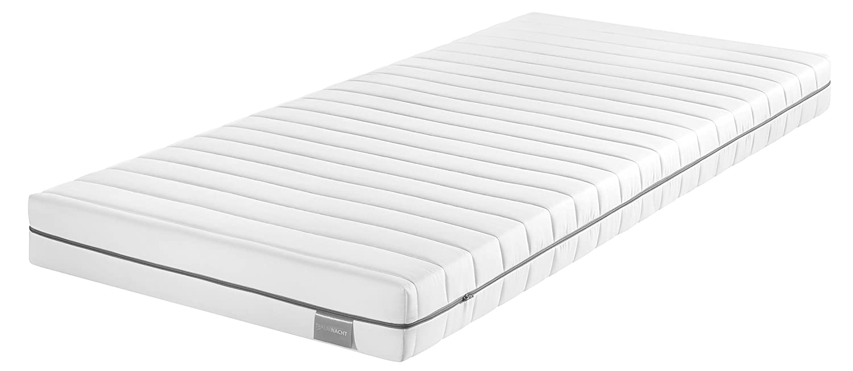 Traumnacht Basis Kaltschaummatratze mit 7-Zonen-Schnitt für alle Schlaftypen H3, 140 x 200 cm, weiß