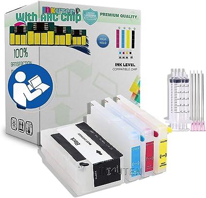 INKUTEN cartuchos recargables para HP 711 Cartucho de tinta Impresoras HP Designjet: T120, y T525: Amazon.es: Oficina y papelería