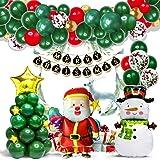 SZRWD クリスマス風船 、飾りバルーンセット、飾り付けセット、風船・バルーン飾り付け、パーティー風船 セット(87点セット )、クリスマスツリー、サンタクロース、クリスマス雪だるま