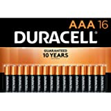 Duracell - CopperTop AAA Alkaline Batteries - long lasting, all-purpose Triple A battery for household and business - 16…