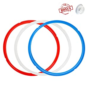 Silicone Sealing Ring and Steam Release Valve for Instant Pot, 3 Pack Sealing Ring with Release Handle for Instapot Smart/Duo - Perfect Accessories for 8 qt Instant Pot