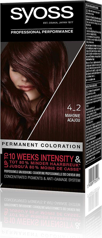 Syoss Color baseline 4-2 - Tinte caoba: Amazon.es: Belleza