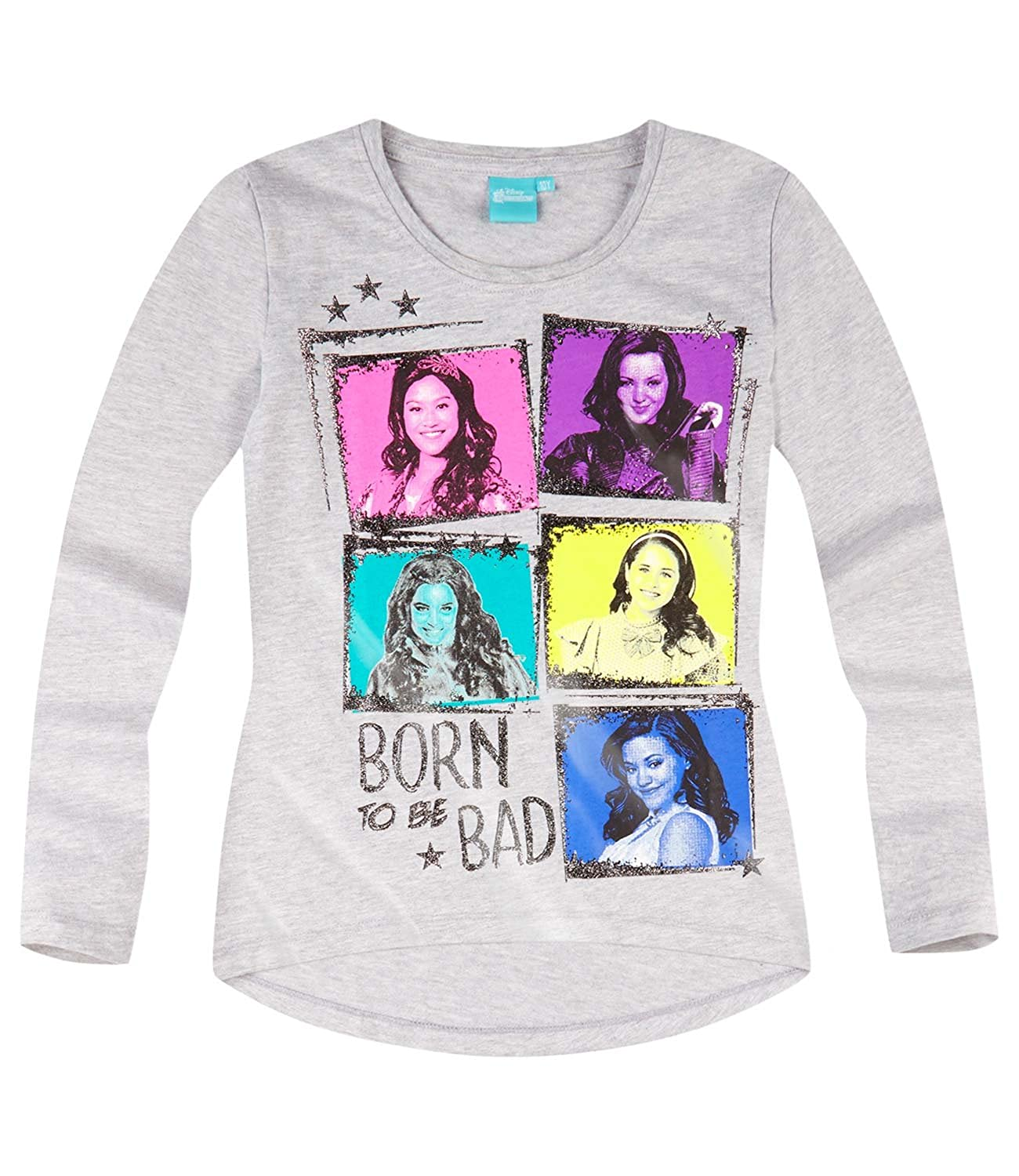 Disney Descendants Girls Long Sleeve T-Shirt 2016 Collection - Grey