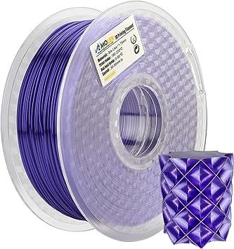 AMOLEN Impresora 3D Filamento PLA 1.75mm, Seda Púrpura 1KG,+/- ...