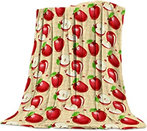 Flannel Fleece Bed Blanket 49x59 inch Throw Blanket Lightweight Cozy Plush Soft Blanket for Bedroom Living Rooms Sofa Couch - Fruits Cartoon Pattern